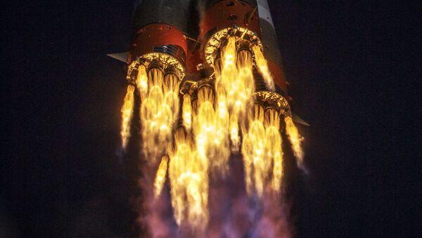 Start nosné rakety Sojuz 2.1a. Ilustrační foto - Sputnik Česká republika