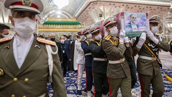 Pohřeb íránského vědce Mohsena Fachrízádeha v Teheránu - Sputnik Česká republika