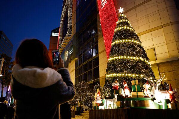 Vánoční strom v Soulu - Sputnik Česká republika