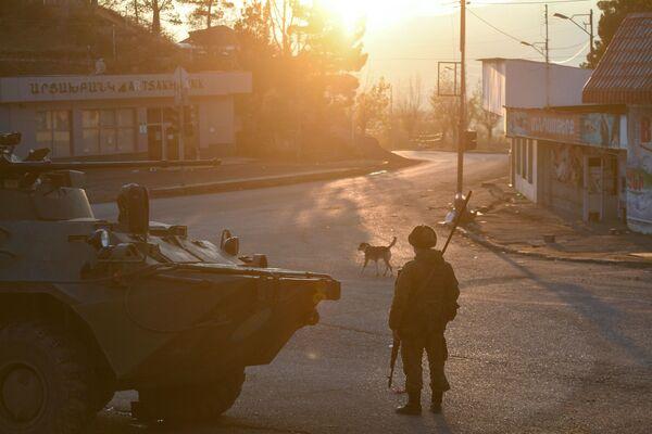 Ruské mírové síly v Náhorním Karabachu. - Sputnik Česká republika