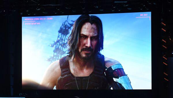 Herec Keanu Reeves anoncuje hru Cyberpunk 2077 - Sputnik Česká republika