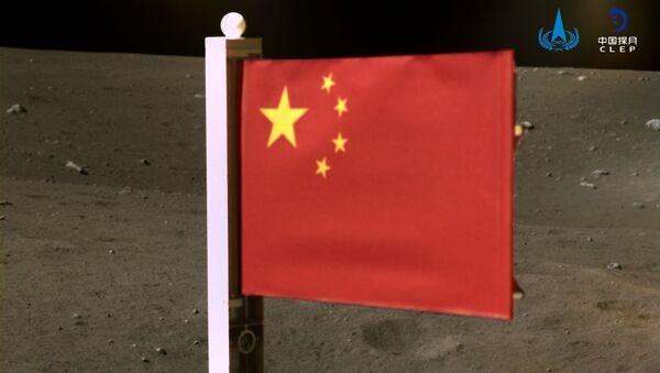Čínská vlajka na Měsíci - Sputnik Česká republika