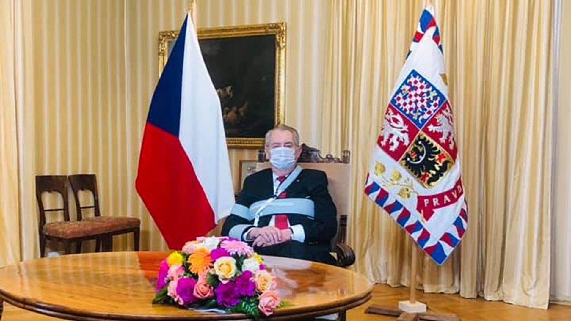 Český prezident Miloš Zeman - Sputnik Česká republika, 1920, 28.06.2021