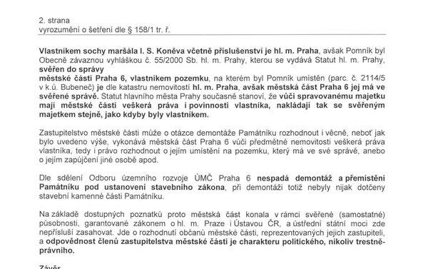 Vyrozumění Policie 2. str. - Sputnik Česká republika