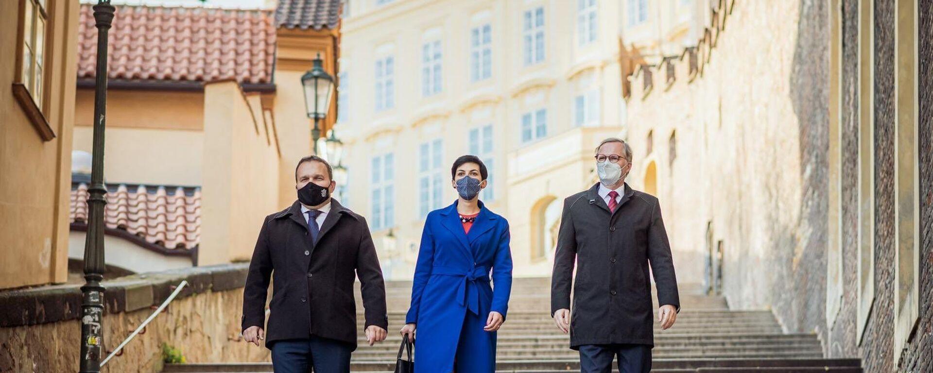 Lídři koalice Spolu: Marian Jurečka (KDU-ČSL), Markéta Pekarová Adamová (TOP 09) a Petr Fiala (ODS). - Sputnik Česká republika, 1920, 30.04.2021