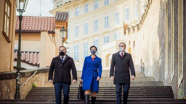 Чешские политики Мариан Юречка, Маркета Пекарова Адамова и Петр Фиала - Sputnik Česká republika