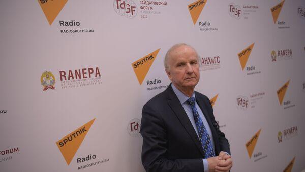 Bývalý místopředseda vlády a bývalý ministr financí Polské republiky Grzegorz Kolodko v Moskvě - Sputnik Česká republika