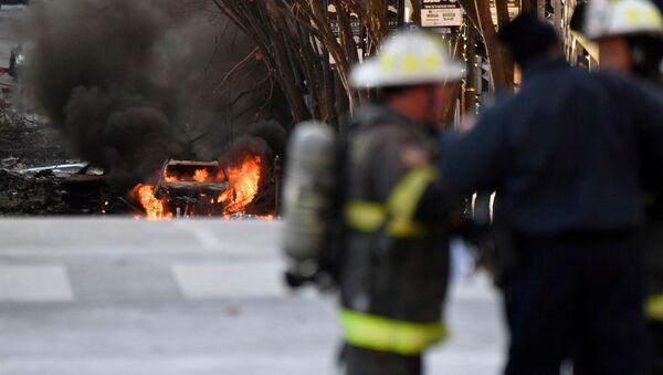Následky výbuchu v Nashvillu - Sputnik Česká republika