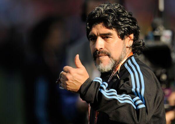 Argentinský fotbalista a trenér argentinské fotbalové reprezentace Diego Armando Maradona - Sputnik Česká republika