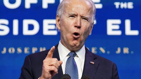 Zvolený americký prezident Joe Biden mluví o násilí ve Washingtonu - Sputnik Česká republika