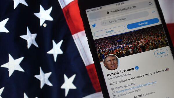 Účet amerického prezidenta Donalda Trumpa na Twitteru - Sputnik Česká republika