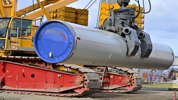 Stavební práce při budování plynovodu Nord Stream 2 v Německu - Sputnik Česká republika