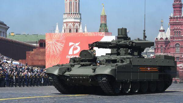 Ruské bojové vozidlo podpory tanků Terminátor - Sputnik Česká republika