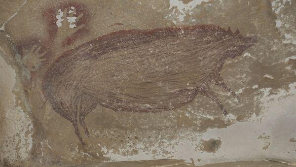 V indonéské jeskyni byla objevena jedna z nejstarších maleb zvířete - Sputnik Česká republika