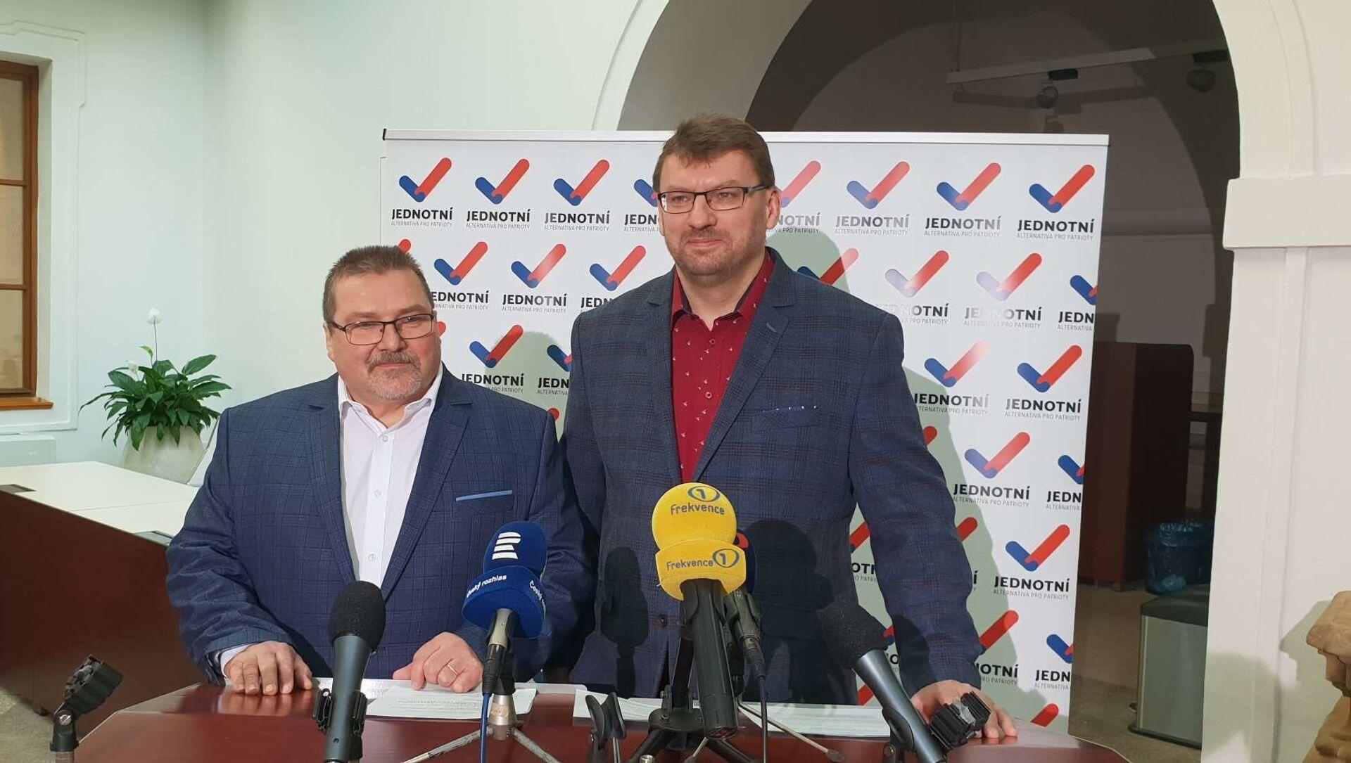 Poslanci Marian Bojko a Lubomír Volný - Sputnik Česká republika, 1920, 09.02.2021