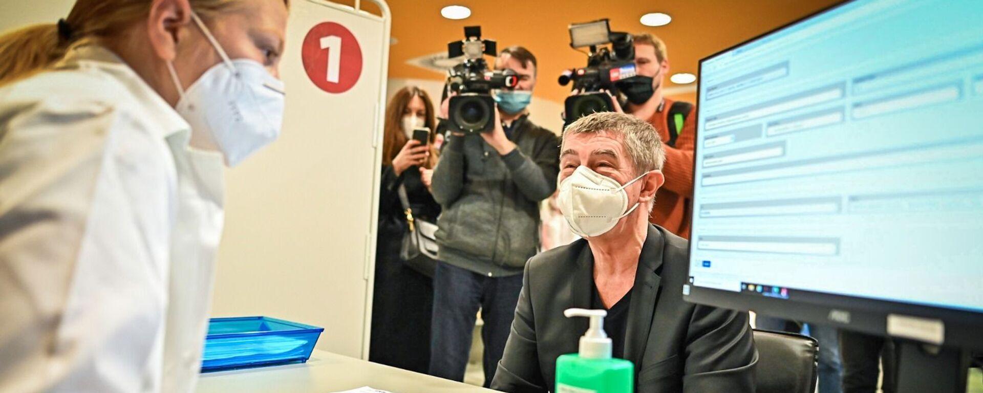 Premiér ČR Andrej Babiš si nechal píchnout druhou dávku vakcíny - Sputnik Česká republika, 1920, 12.02.2021