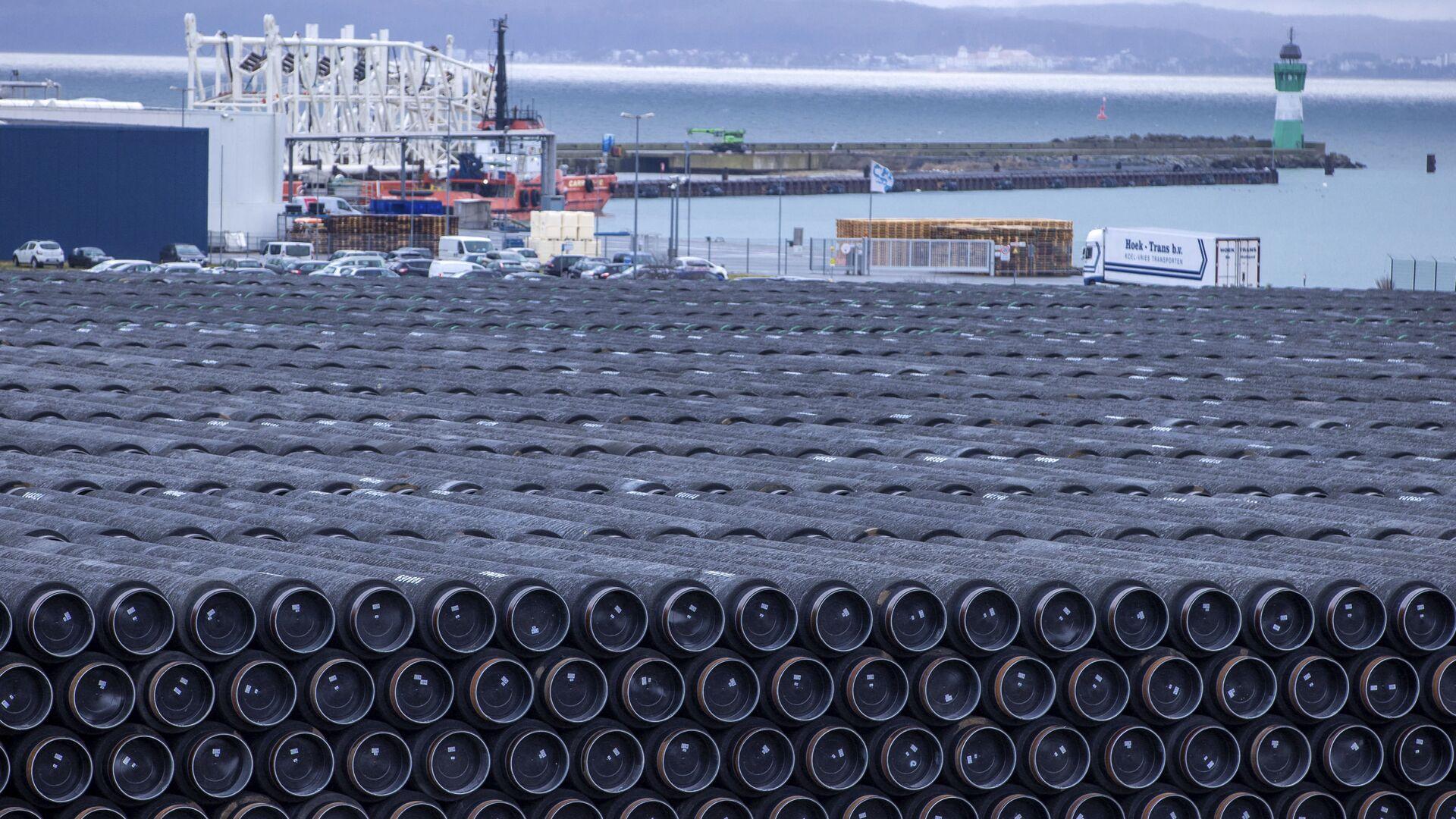 Potrubí na stavbu plynovodu Nord Stream 2 v Německu - Sputnik Česká republika, 1920, 15.04.2021