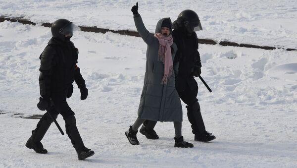 Policie zadržela účastnici nepovolené demonstrace ve Vladivostoku - Sputnik Česká republika