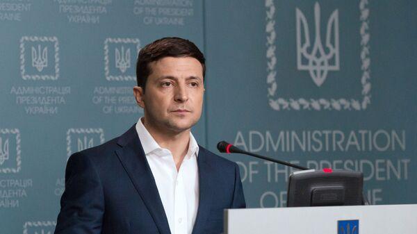Ukrajinský prezident Volodymyr Zelenskyj v Kyjevě - Sputnik Česká republika