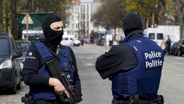 Policie v Bruselu. Ilustrační foto - Sputnik Česká republika