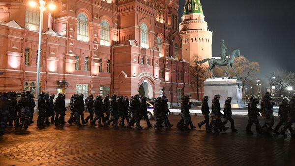Policie na Manéžní náměstí  v Moskvě - Sputnik Česká republika