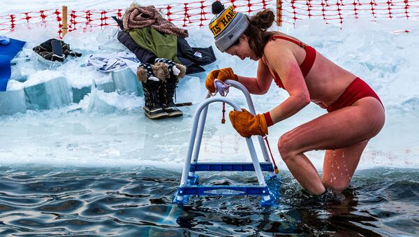 Otužilci z Nového světa: Zimní plavání na americký způsob - Sputnik Česká republika
