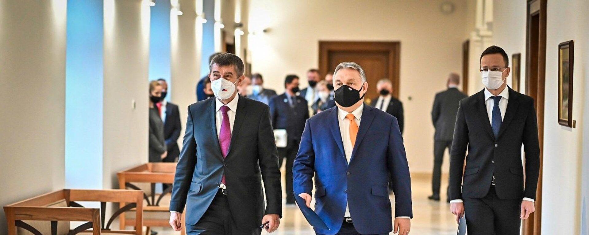 Andrej Babiš a Viktor Orbán v Budapešti - Sputnik Česká republika, 1920, 06.09.2021