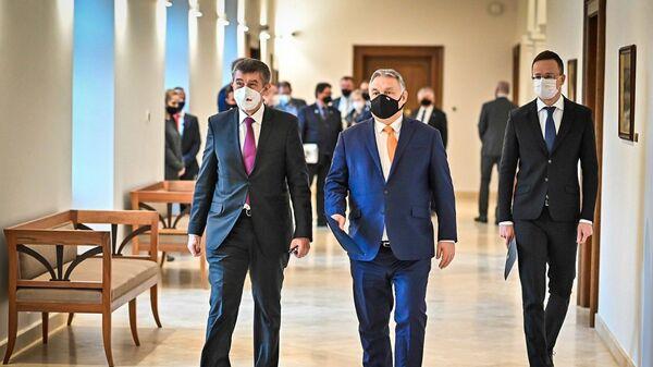Andrej Babiš a Viktor Orbán v Budapešti - Sputnik Česká republika