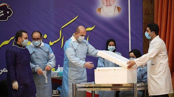 Očkování proti covidu-19 v Íránu - Sputnik Česká republika