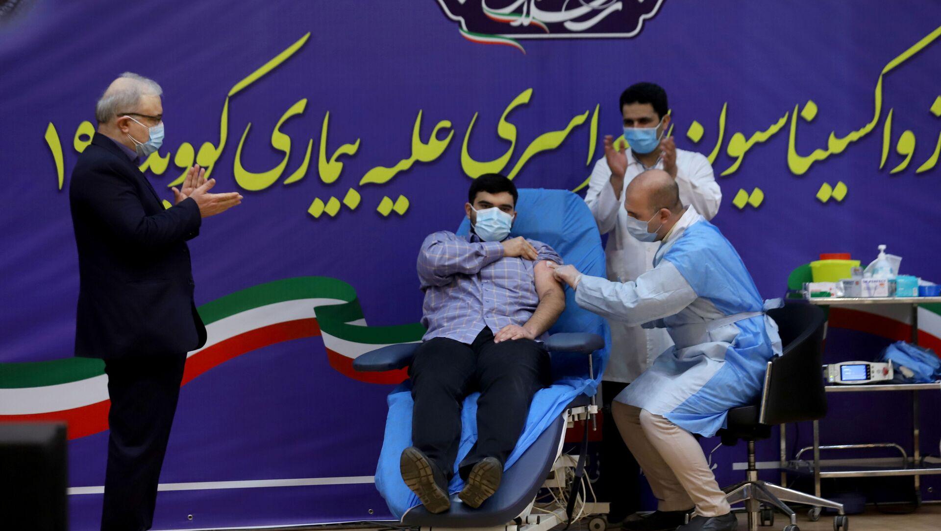 Syn ministra zdravotnictví Íránu během vakcinace - Sputnik Česká republika, 1920, 09.02.2021
