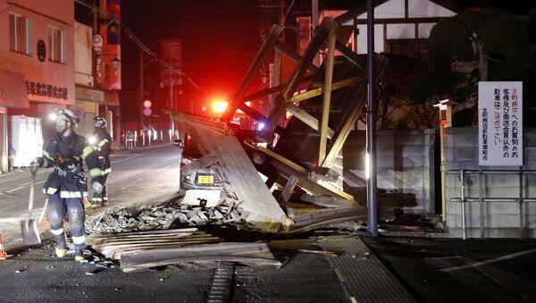 Následky zemětřesení v prefektuře Fukušima - Sputnik Česká republika
