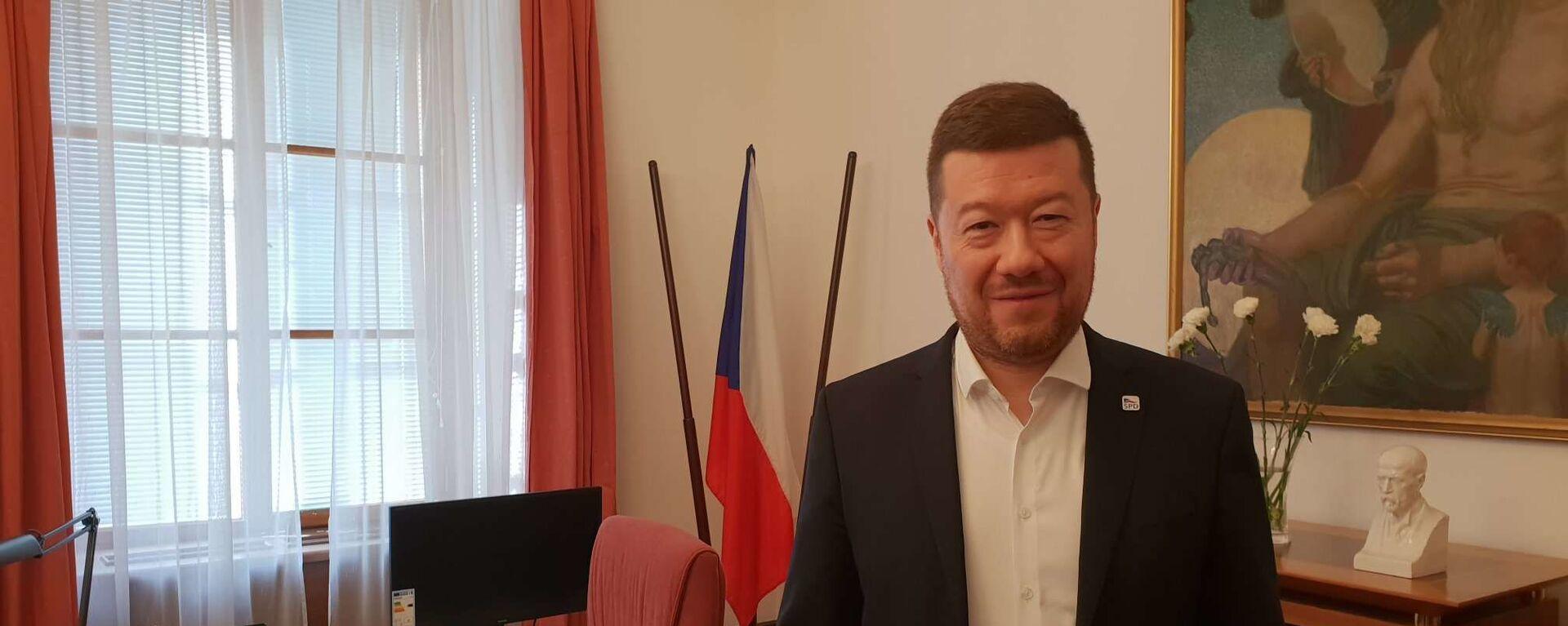 Předseda hnutí SPD Tomio Okamura - Sputnik Česká republika, 1920, 14.04.2021