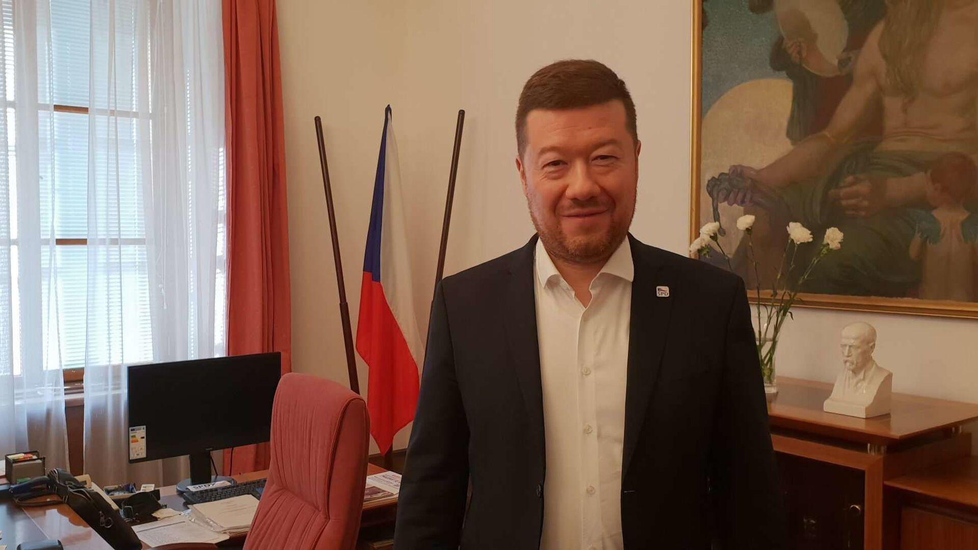 Předseda hnutí SPD Tomio Okamura - Sputnik Česká republika, 1920, 23.03.2021