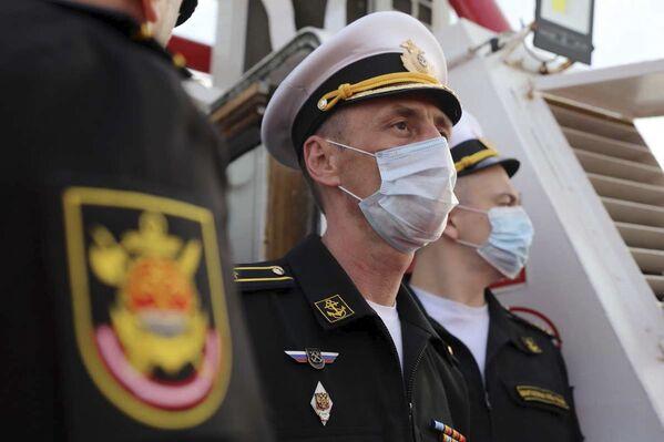 Důstojníci ruského námořnictva během společného cvičení íránského a ruského námořnictva v Indickém oceánu. - Sputnik Česká republika