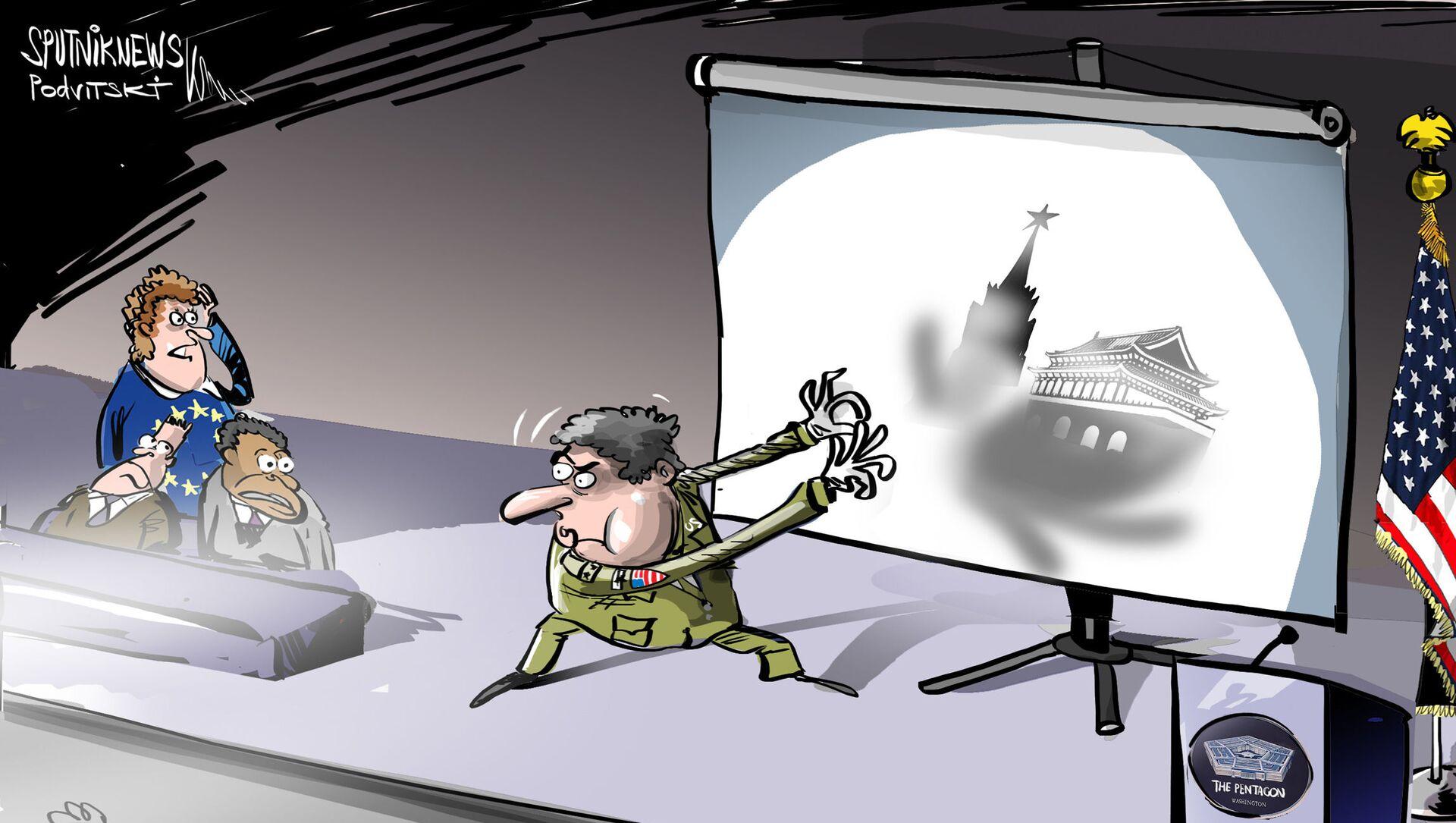 Pentagon nedokázal vysvětlit, v čem spočívá nebezpečí Ruska pro NATO - Sputnik Česká republika, 1920, 17.02.2021