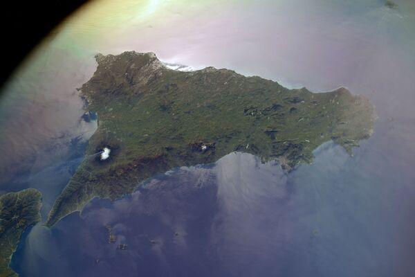 Výhled z vesmíru na sopku Etna na Sicílii. - Sputnik Česká republika