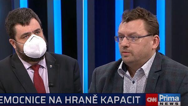 Pavel Novotný a Lubomír Volný. Pořad 360° na CNN Prima News - Sputnik Česká republika