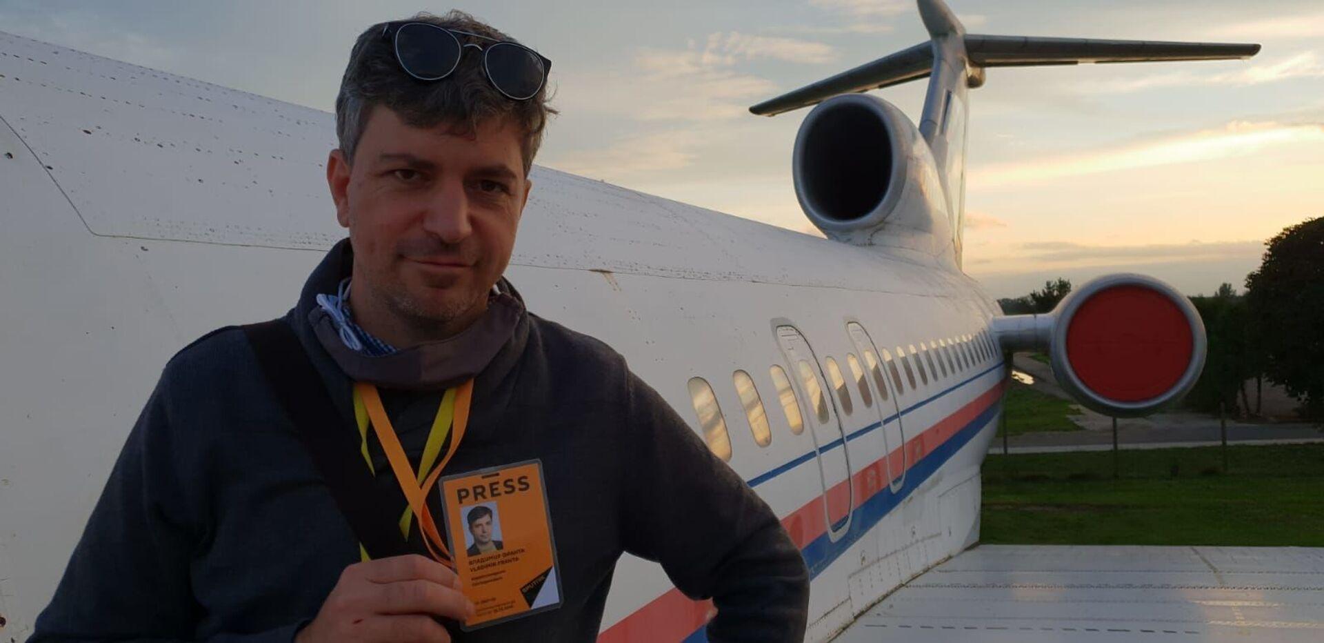 Reportér Sputniku u Tupoleva TU-154M, které využívali prezidenti Václav Havel i Václav Klaus - Sputnik Česká republika, 1920, 20.04.2021