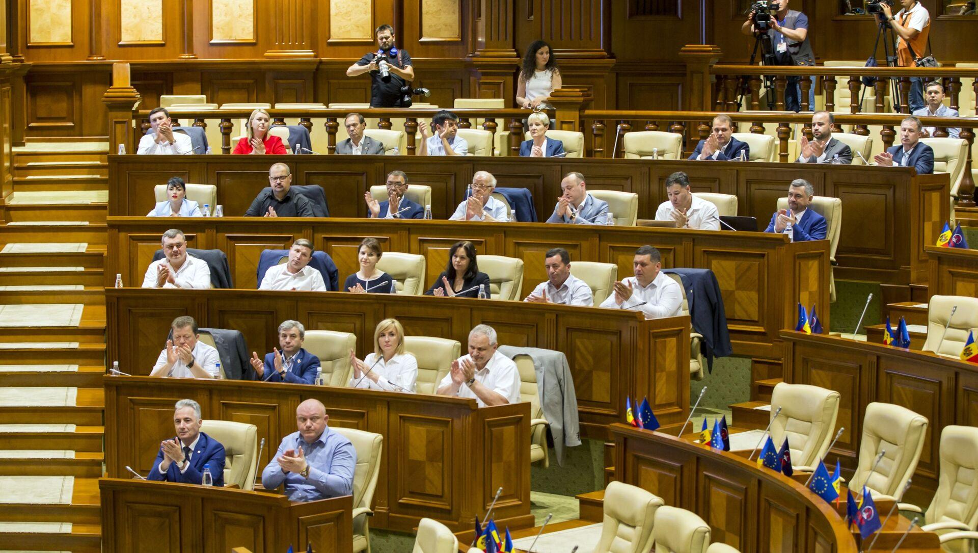 Zasedání moldavského parlamentu. Ilustrační foto - Sputnik Česká republika, 1920, 03.03.2021