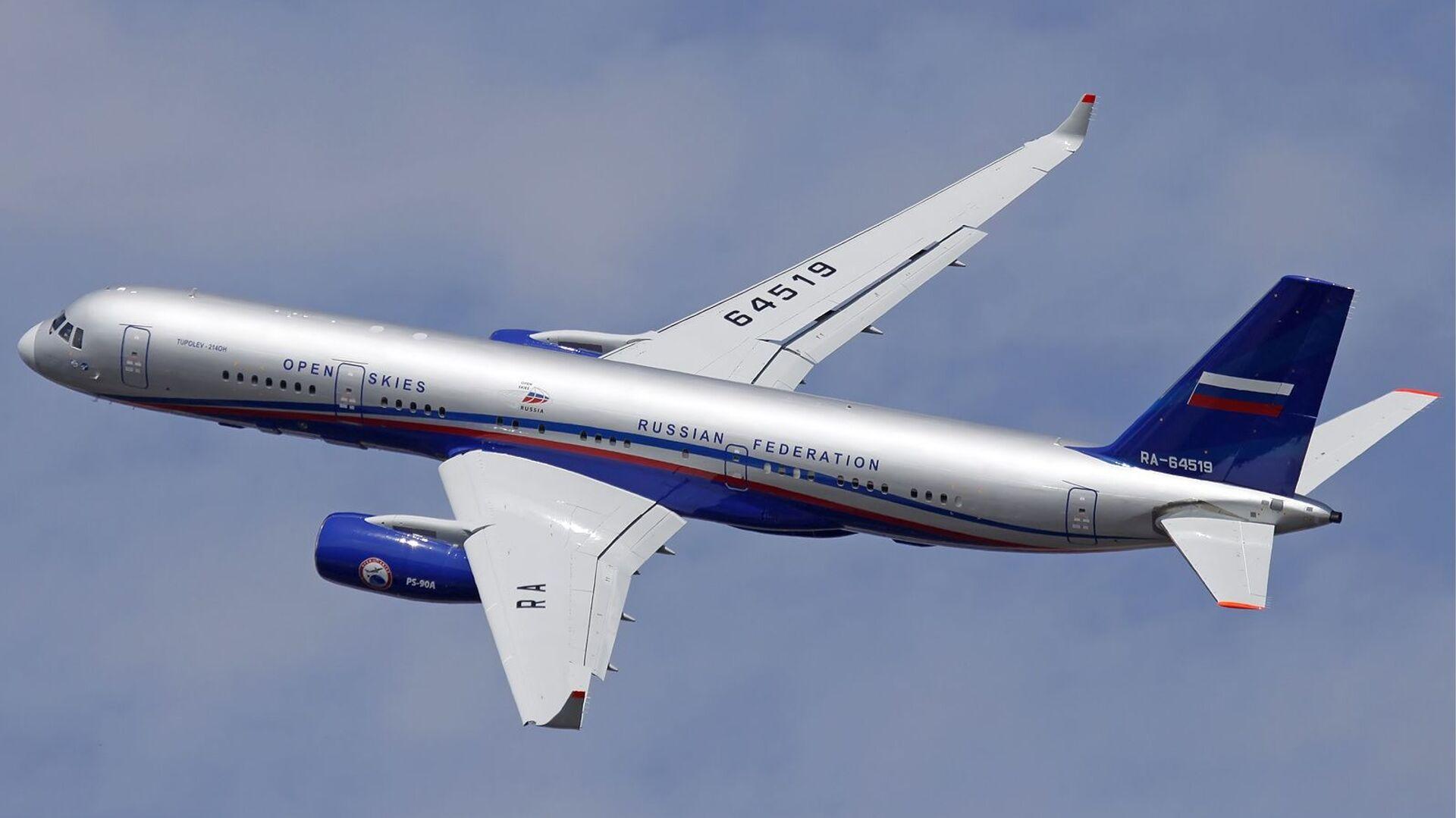 Ruský pozorovací letoun Tu-214ON - Sputnik Česká republika, 1920, 06.03.2021