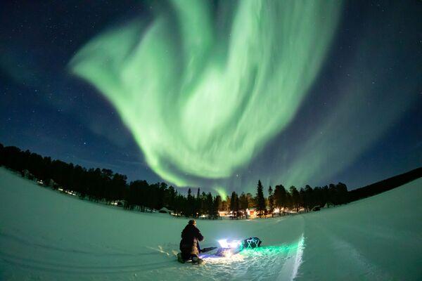 Polární záře v Laponsku - Sputnik Česká republika