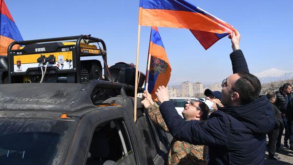 Protestní akce v Jerevanu - Sputnik Česká republika