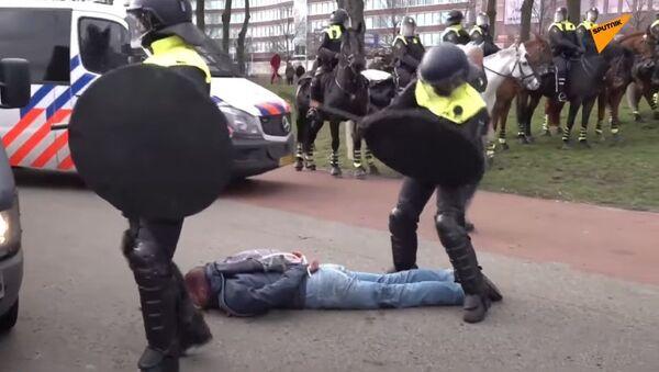 Protesty v Nizozemsku - Sputnik Česká republika