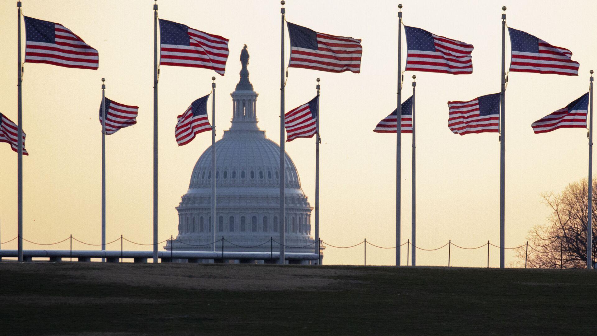 Americké vlajky ve Washingtonu - Sputnik Česká republika, 1920, 12.04.2021