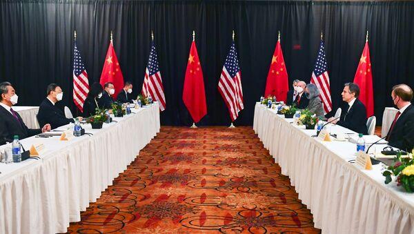 Jednání Číny a USA v aljašském městě Anchorage 19. března 2021 - Sputnik Česká republika
