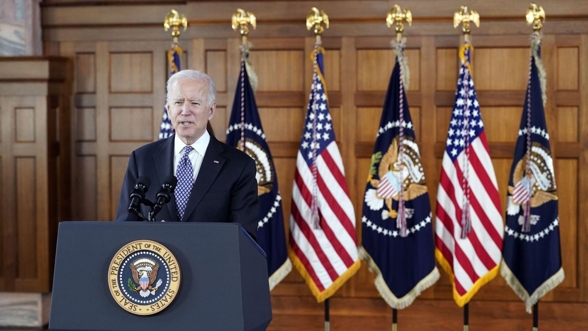 Americký prezident Joe Biden - Sputnik Česká republika, 1920, 22.04.2021