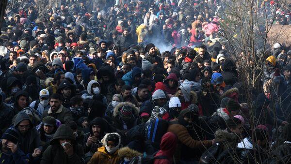Uprchlíci na hranici Turecka a Řecka - Sputnik Česká republika