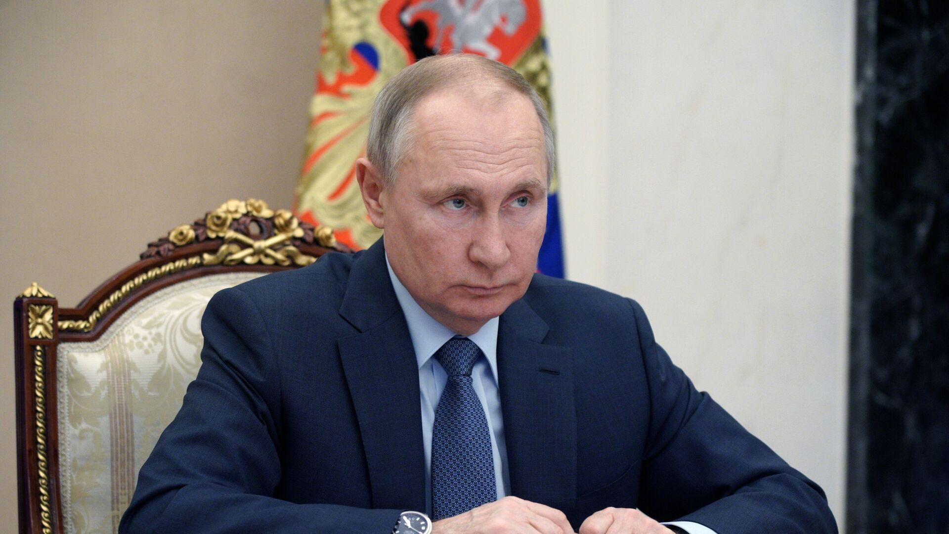 Владимир Путин на совещании с членами правительства РФ - Sputnik Česká republika, 1920, 29.04.2021