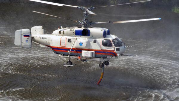Мrtulník Ka-32 Ministerstva pro civilní obranu, mimořádné situace a likvidaci následků živelných pohrom RF (MČS). Ilustrační foto - Sputnik Česká republika