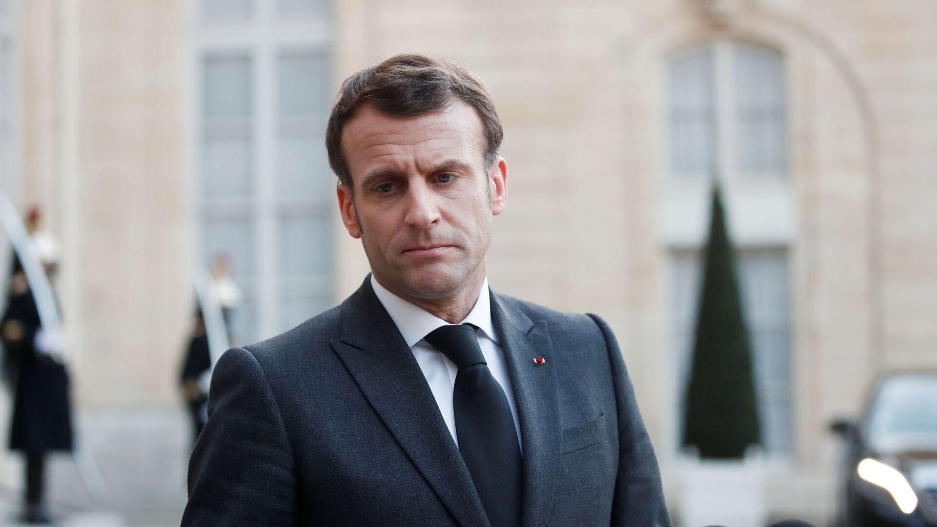 Francouzský prezident Emmanuel Macron - Sputnik Česká republika, 1920, 26.03.2021